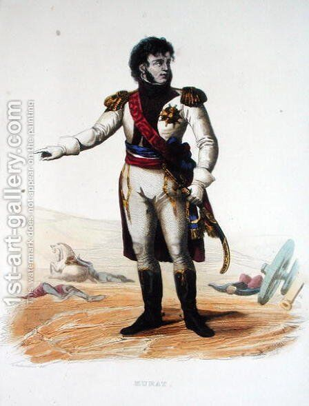 Portrait of Joachim Murat from Le Plutarque Francais by (after) Guilleminot, Armand - Reproduction Oil Painting