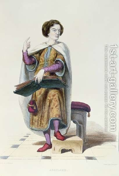 Abelard illustration from Le Plutarque Francais by (after) Guilleminot, Armand - Reproduction Oil Painting