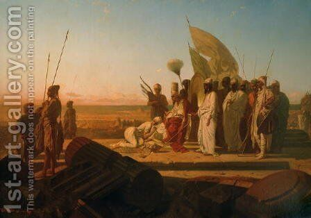 Xerxes at the Hellespont by Jean Adrien Guignet - Reproduction Oil Painting