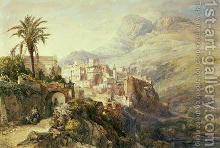 Moroccan Landscape by Jacques Guiaud - Reproduction Oil Painting