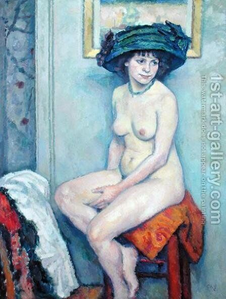Nude by Charles Francois Prosper Guerin - Reproduction Oil Painting