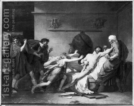 The Death of Cato of Utica 95-46 BC by Baron Pierre-Narcisse Guerin - Reproduction Oil Painting