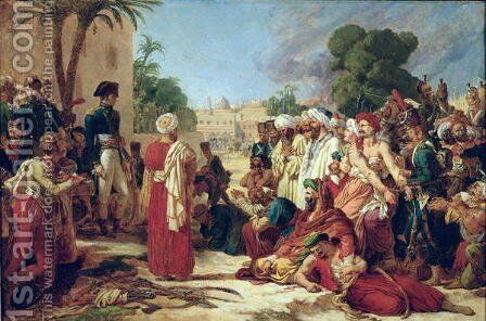 Bonaparte 1769-1821 in Cairo by Baron Pierre-Narcisse Guerin - Reproduction Oil Painting