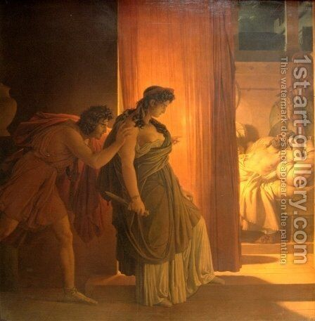 Clytemnestra by Baron Pierre-Narcisse Guerin - Reproduction Oil Painting