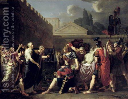 The Death of Brutus by Baron Pierre-Narcisse Guerin - Reproduction Oil Painting