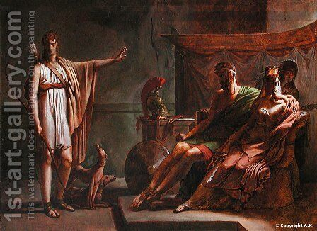 Phaedra and Hippolytus by Baron Pierre-Narcisse Guerin - Reproduction Oil Painting