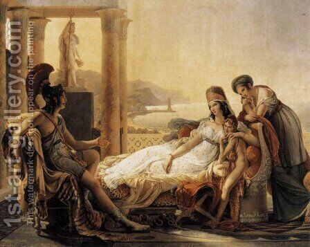 Aeneas telling Dido of the Disaster at Troy by Baron Pierre-Narcisse Guerin - Reproduction Oil Painting