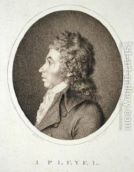 Ignaz Joseph Pleyel 1757-1831 by (after) Guerin - Reproduction Oil Painting