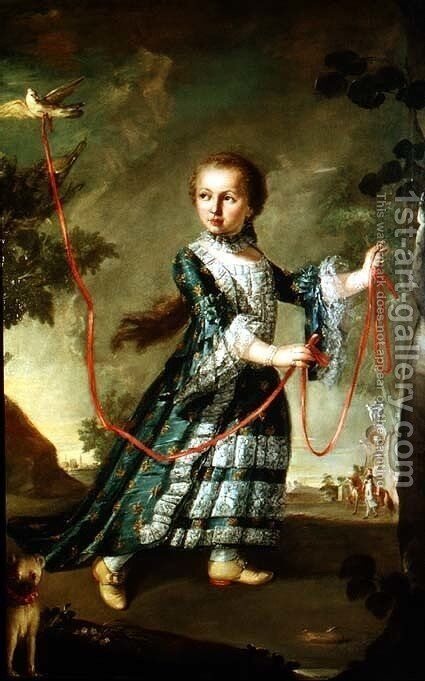 Portrait of a Girl by Giovanni Antonio Guardi - Reproduction Oil Painting