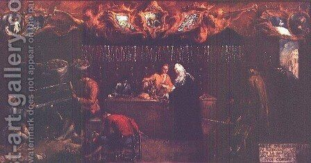 The Art of the Jeweller by Giovanni Antonio Guardi - Reproduction Oil Painting
