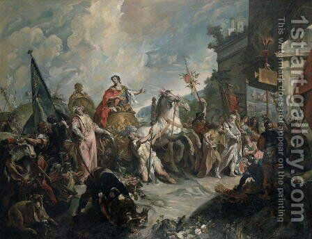 The Triumph of a Roman General by Giovanni Antonio Guardi - Reproduction Oil Painting