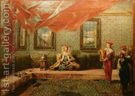 A Greek Favourite in the Harem by Giovanni Antonio Guardi - Reproduction Oil Painting