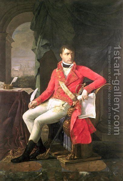 Napoleon 1769-1821 as First Consul by Antoine-Jean Gros - Reproduction Oil Painting