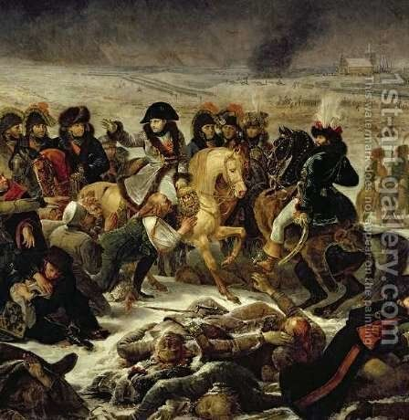 Napoleon on the Battle Field of Eylau by Antoine-Jean Gros - Reproduction Oil Painting