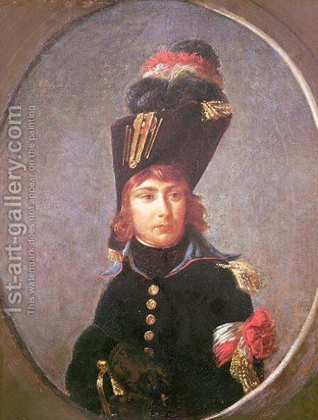 Portrait of Prince Eugene de Beauharnais 1781-1824 Aged Fifteen by Antoine-Jean Gros - Reproduction Oil Painting