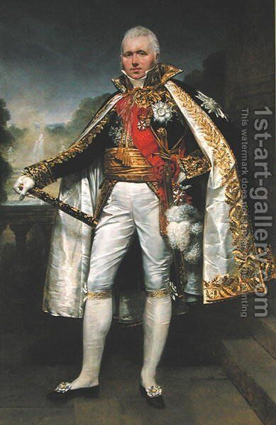 Claude Victor Perrin 1764-1841 known as Victor Duc de Bellune by Antoine-Jean Gros - Reproduction Oil Painting