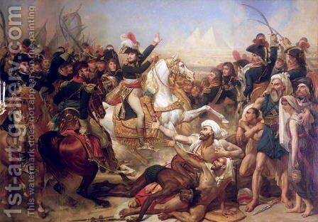 The Battle of the Pyramids by Antoine-Jean Gros - Reproduction Oil Painting
