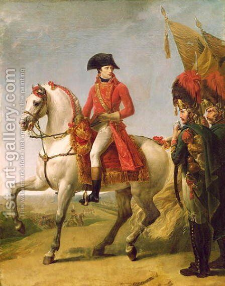 Napoleon Bonaparte 1769-1821 First Consul Reviewing his Troops after the Battle of Marengo by Antoine-Jean Gros - Reproduction Oil Painting