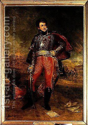 Portrait of General Francois Fournier Sarvoleze 1773-1827 by Antoine-Jean Gros - Reproduction Oil Painting