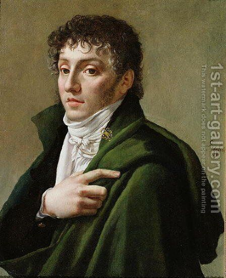 Portrait of Etienne Henri Mehul 1763-1817 by Antoine-Jean Gros - Reproduction Oil Painting