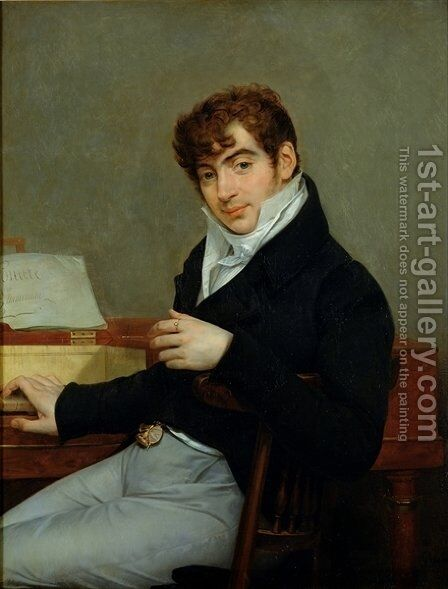 Portrait of Pierre Zimmermann 1785-1853 by Antoine-Jean Gros - Reproduction Oil Painting
