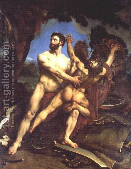 Hercules and Diomedes by Antoine-Jean Gros - Reproduction Oil Painting