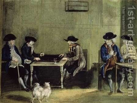 The Backgammon Game by Nathaniel Grogan - Reproduction Oil Painting