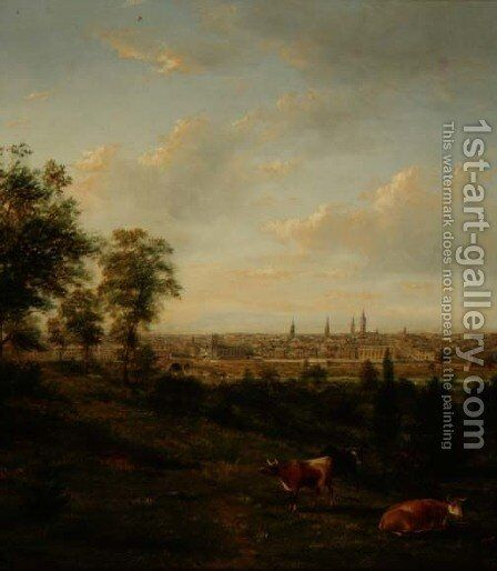 View of Melbourne by Henry Gritten - Reproduction Oil Painting