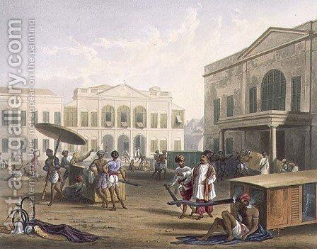 Scene in Bombay 2 by (after) Grindlay, Captain Robert M. - Reproduction Oil Painting