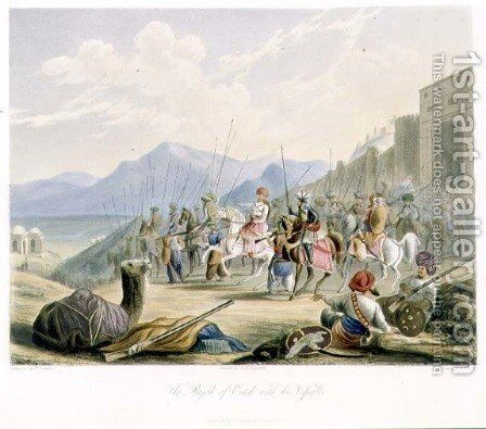 The Rajah of Cutch by (after) Grindlay, Captain Robert M. - Reproduction Oil Painting