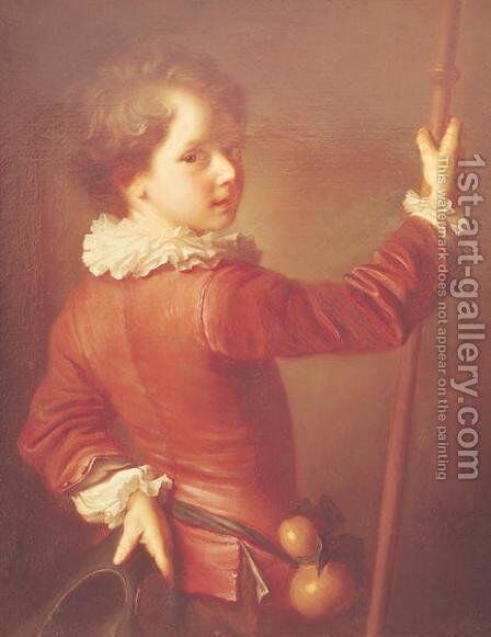 Portrait of a Young Pilgrim by Jean-Alexis Grimou - Reproduction Oil Painting