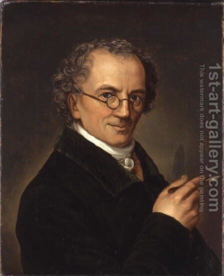 The Artist Friedrich Carl Groger 1766-1838 by Carl Heinrich Adolph Grimm - Reproduction Oil Painting