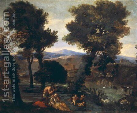 Landscape with Venus Pan and Cupids by Giovanni Francesco Grimaldi - Reproduction Oil Painting