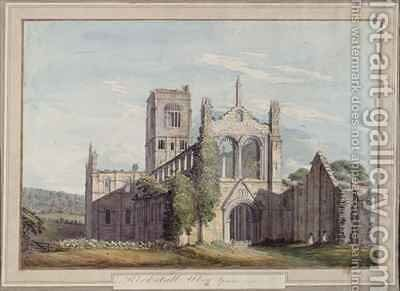 North West View of Kirkstall Abbey by Moses Griffiths - Reproduction Oil Painting
