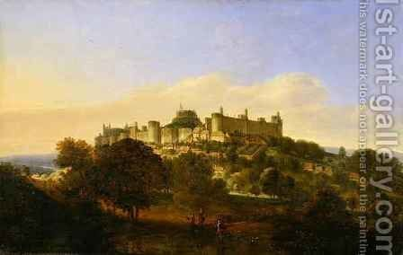 Windsor Castle from the South by (after) Griffier, Jan the Elder - Reproduction Oil Painting