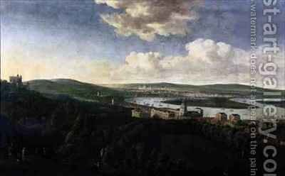 View of Queens House and Royal Hospital Greenwich by Jan the Elder Griffier - Reproduction Oil Painting