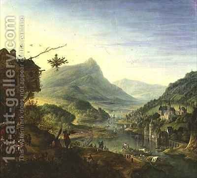 Panoramic view on the Rhine by Jan the Elder Griffier - Reproduction Oil Painting