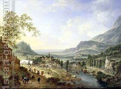 A Village Fete in the Rhine Valley by Jan the Elder Griffier - Reproduction Oil Painting