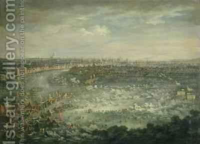 The Thames during the Great Frost of 1739-40 by Jan Griffier - Reproduction Oil Painting