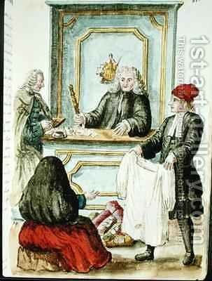An Auction by Jan van Grevenbroeck - Reproduction Oil Painting