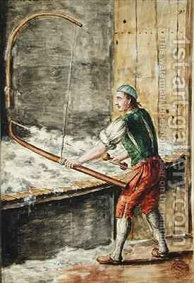 Spinning Cotton by Jan van Grevenbroeck - Reproduction Oil Painting