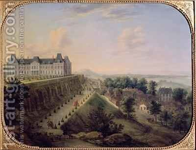 The Chateau de Meudon by Charles Leopold Grevenbroeck - Reproduction Oil Painting