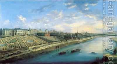 View of Passy and Chaillot from Grenelle by Charles Laurent Grevenbroeck - Reproduction Oil Painting