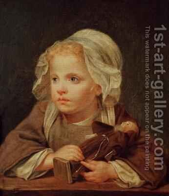 Girl with a Doll by (after) Greuze, Jean Baptiste - Reproduction Oil Painting