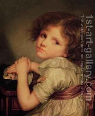 Child with a Doll by Anne Genevieve Greuze - Reproduction Oil Painting