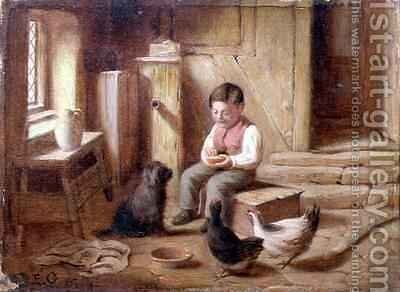 Feeding the Fowl by E.S. Greig - Reproduction Oil Painting