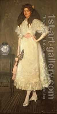 Portrait of Miss Sybil Waller by Maurice William Greiffenhagen - Reproduction Oil Painting