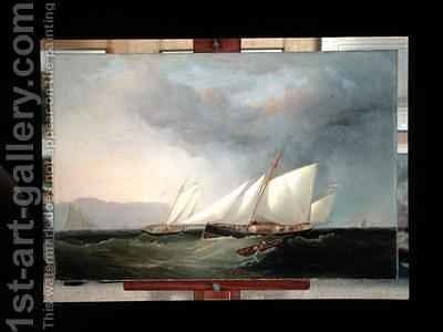Yachts Racing by Charles Gregory - Reproduction Oil Painting
