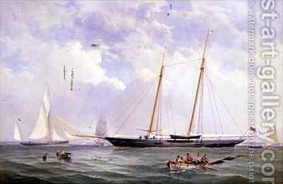 A Portrait of the 110 Ton Royal Yacht Squadron Schooner Viking off the Needles by Charles Gregory - Reproduction Oil Painting