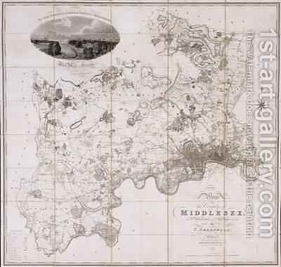 Map of the County of Middlesex by C. Greenwood - Reproduction Oil Painting